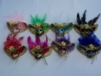 Mini Venetian Mask Magnet #84